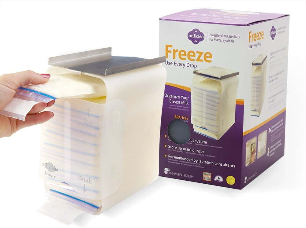 how to freeze breast milk -storage rack