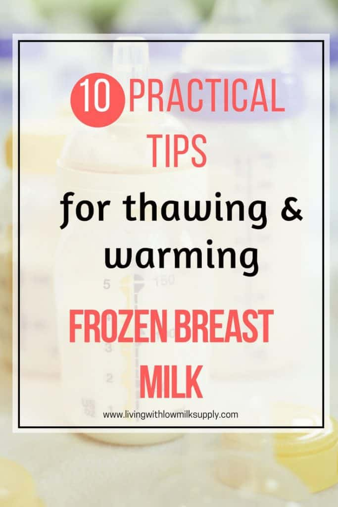 Learn how to properly thaw and warm frozen breast milk, includes the do's and don'ts. Click through to read the full article