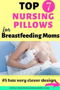 Learn how to choose best nursing pillow for breastfeeding mothers and check out the top 7 nursing pillows (complete with pros and cons). #breastfeedingtips #breastfeedingessential #breastfeedingmom