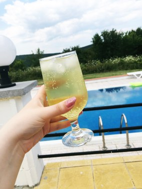 Simple Lime and Soda while sat by the pool!