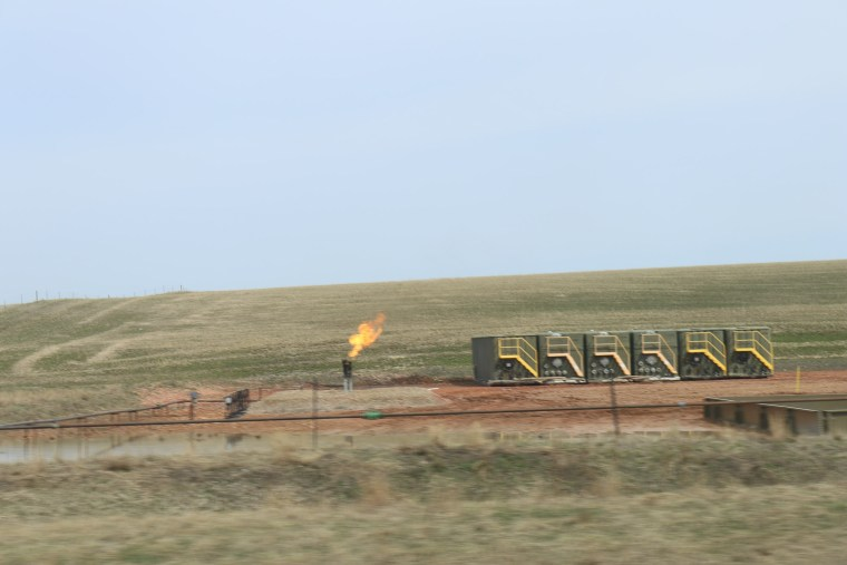 oil well flaring