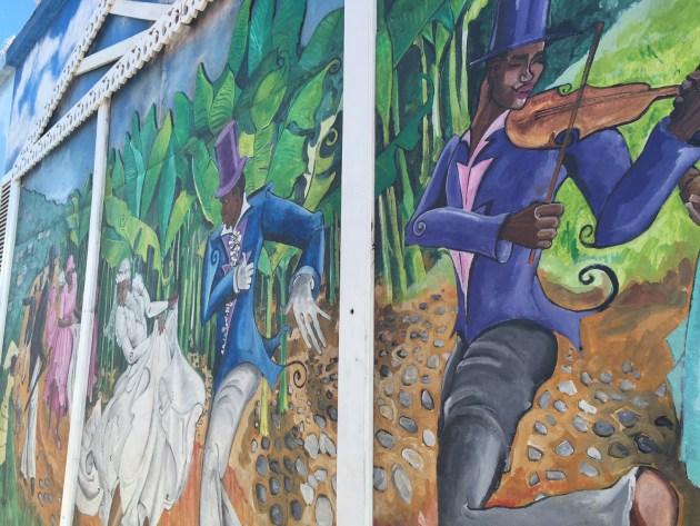 Mural art in Scarborough.