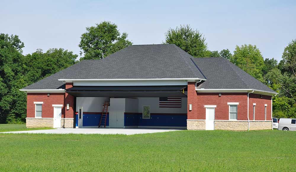 J.T. Strange - Hangar Door - O'Bannon Creek Aerodrome Airpark