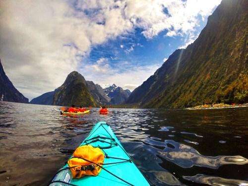 Kayaking Milford Sound New Zealand