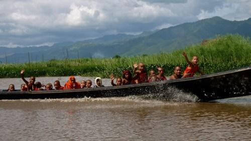 Monks on Inle Lake, Myanmar