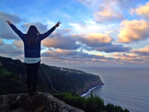 Ponta da Madrugada miradouro, Sao Miguel, Azores, Portugal