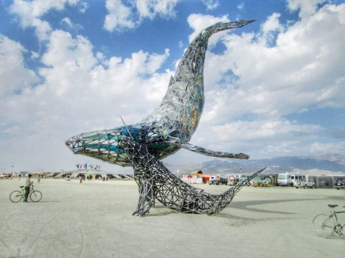 Whale Sculpture Burning Man