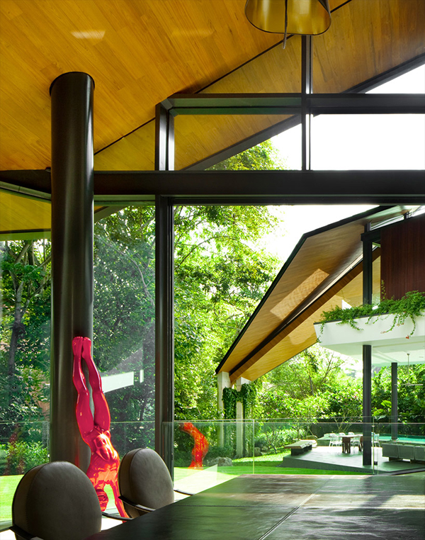 Modern Trapezium House Design 6 Modern Trapezium House Inspired by Traditional Malay Architecture