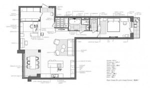 l shaped apartment plan