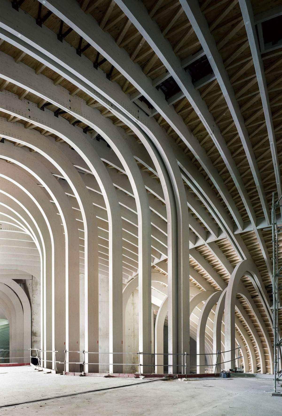 Chantier Cite des Civilisations du vin, Bordeaux. XTU architects. ©Patrick Tourneboeuf/Tendance Floue