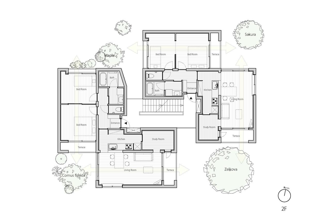 fukuoka apartment complex plan 3