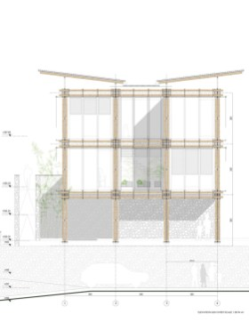 BAMBOO HOUSE _STUDIO CARDENAS7_elevation_sud_ovest