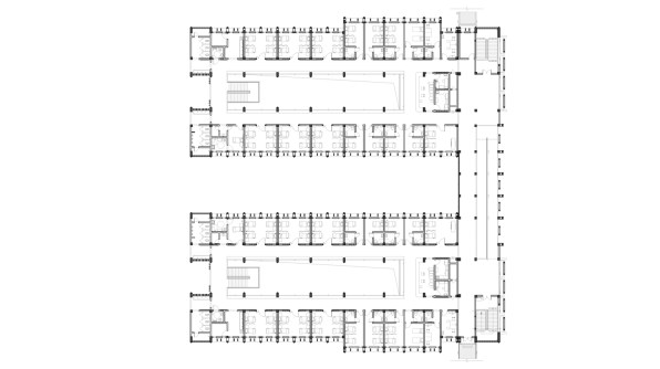 Niger General Hospital_44_CADI_Inpatient Building First Floorplan