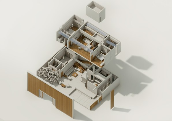 Badri Residence AXONOMETRIC_Architecture Paradigm