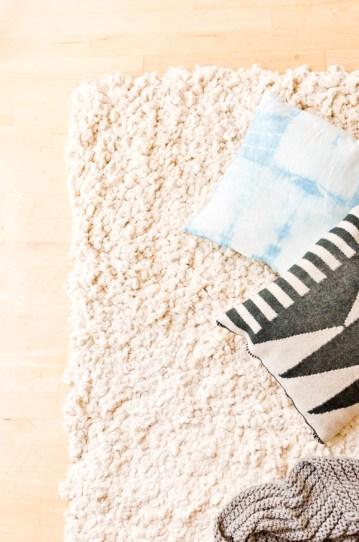 diy fluffy cotton rug 1