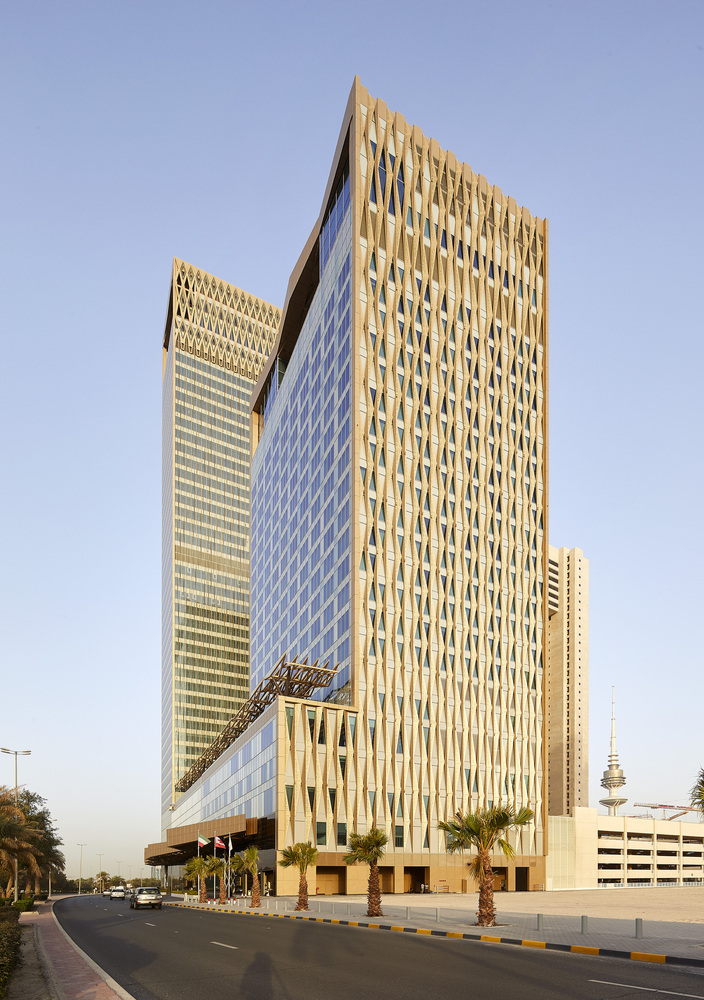 The Burj Alshaya in Kuwait by Gensler features a distinctive