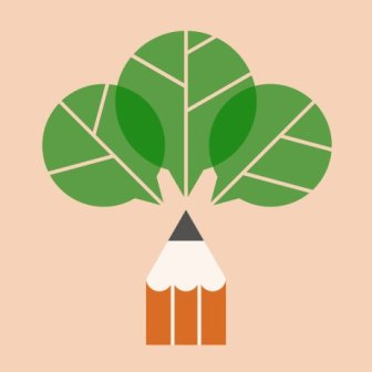 Logo for the Crayon Papote association, about art and ecology