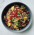 Couscous with Dates, Pine Nuts and Pomegranate Vinaigrette