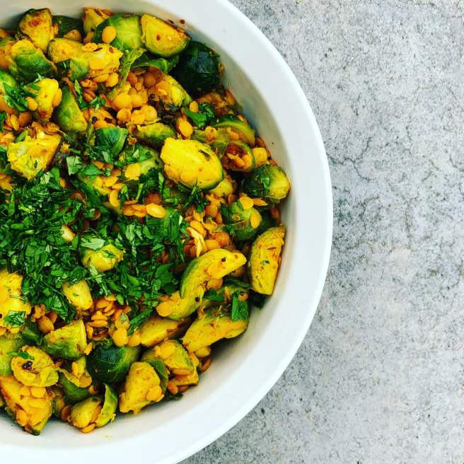 Toor Dal with Brussels Sprouts