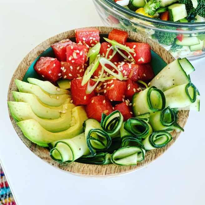 Super Simple Watermelon Poke Bowl