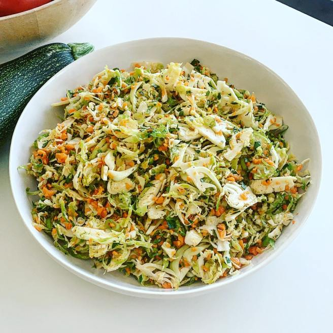 Quick Brussels Sprouts Slaw
