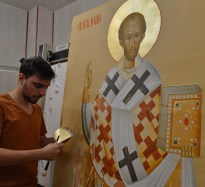 Sfantul Ioan Gura de Aur icoana pictata-Saint John Chrysostom