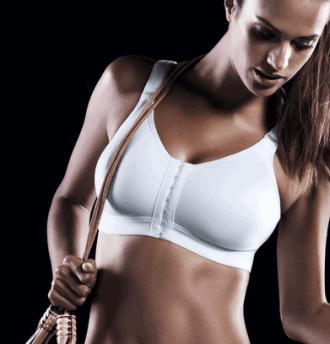 SportsBH med frontlukning er ideel til sport og til lige efter brystoperation
