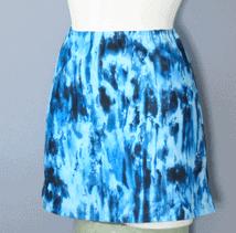 Flot bikiniskørt i blue print