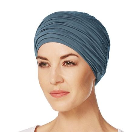 Havblå Karma turban hue