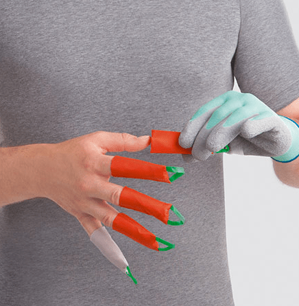 Dactyna fingre sælges i sæt af fem fingre