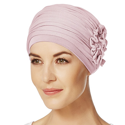 Lotus turban i rosa melange