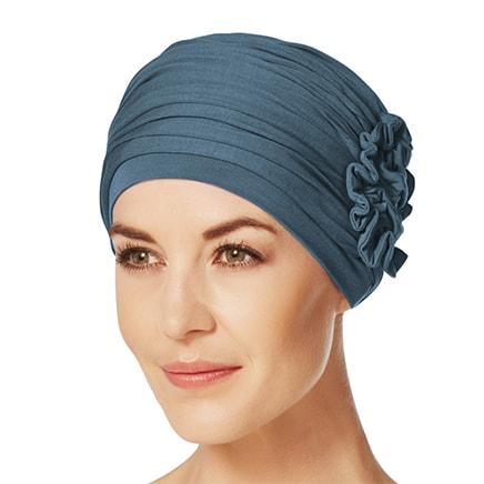 Havblå Lotus turban fra Christine Headwear