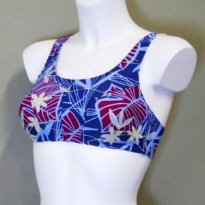 Carrie bikinitop blå-rød