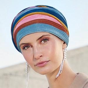 Lækker Luna turban i regnbuens farver