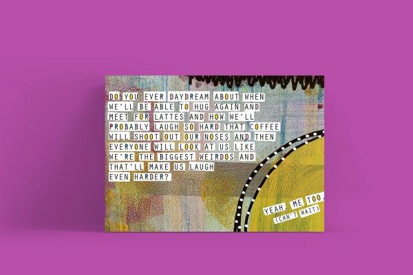 COVID postcard for friends