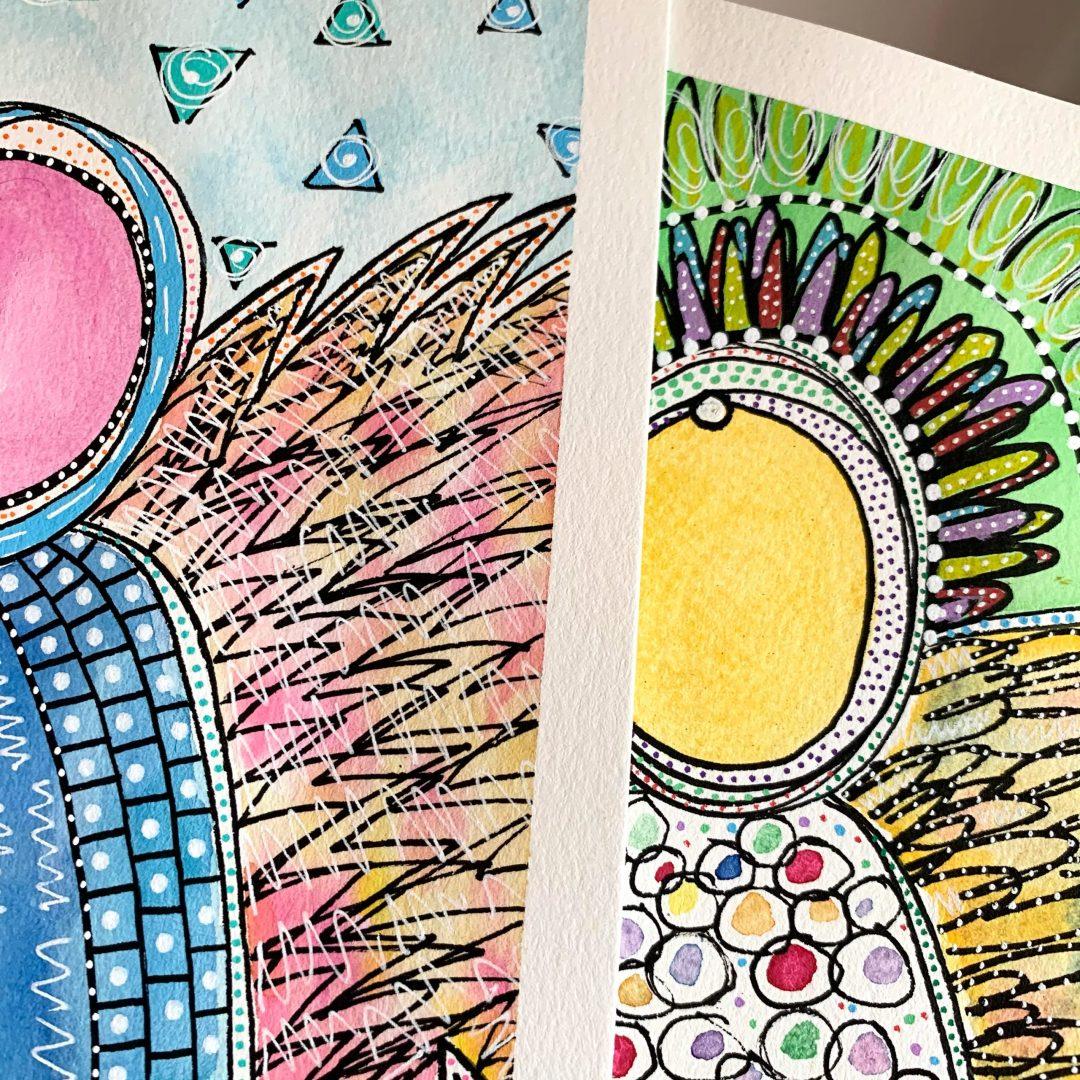 Original Angel Paintings by Liv Lane