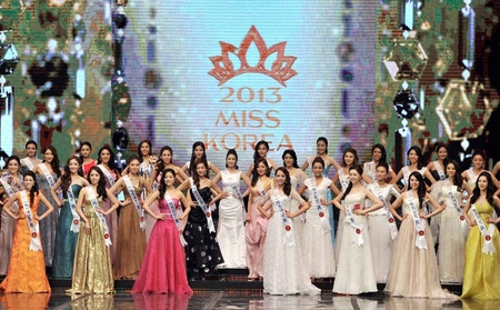 Contestants in the 2013 Miss Korea pageant