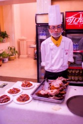 Our Peking duck chef