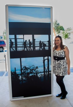 the lovely Kira Kimberley with her silhouette of the railway station