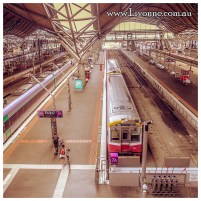 ... by train