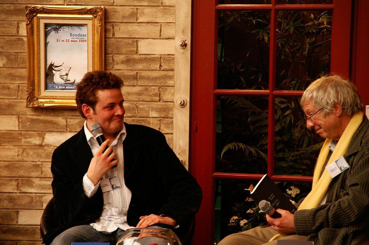 Tanguy Prouvost et Jean-Louis Fournier au Salon du Livre de Bondues