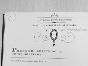 La cuisine des sorciers d'Aurélia Beaupommier entete Blanche-Neige