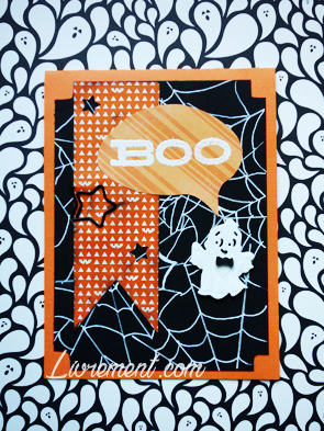 Scrapbooking d'une carte halloween