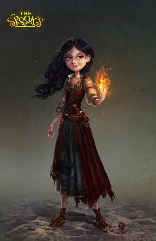 Fan art d'Alice Deane, sorcière de L'épouvanteur de Joseph Delaney