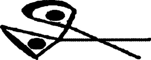 La marque représentant une paire de Ciseaux que la sorcière Grimalkin met sur les arbres