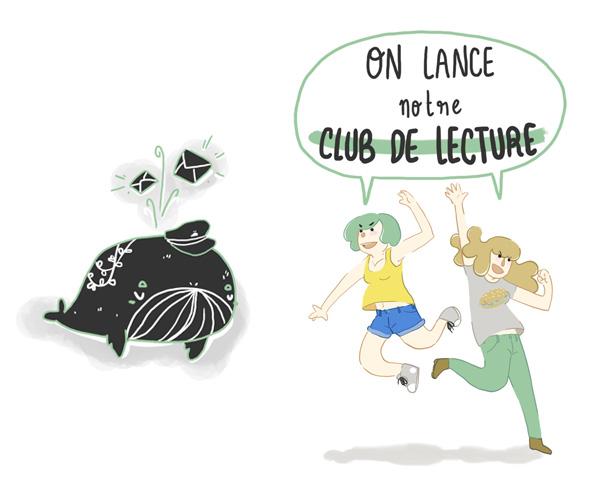 Comic Whales, club de lecture créé par Sita et Schausette
