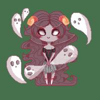 Femme fantomes en pixel art