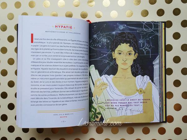 Livres histoires du soir pour filles rebelles portrait d'Hypatie