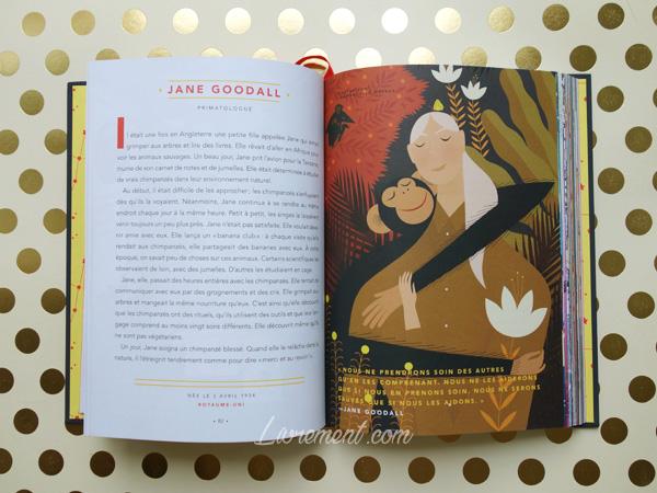 Livres histoires du soir pour filles rebelles portrait de Jane Goodall
