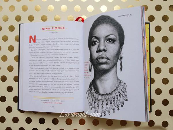 Livres histoires du soir pour filles rebelles portrait de Nina Simone